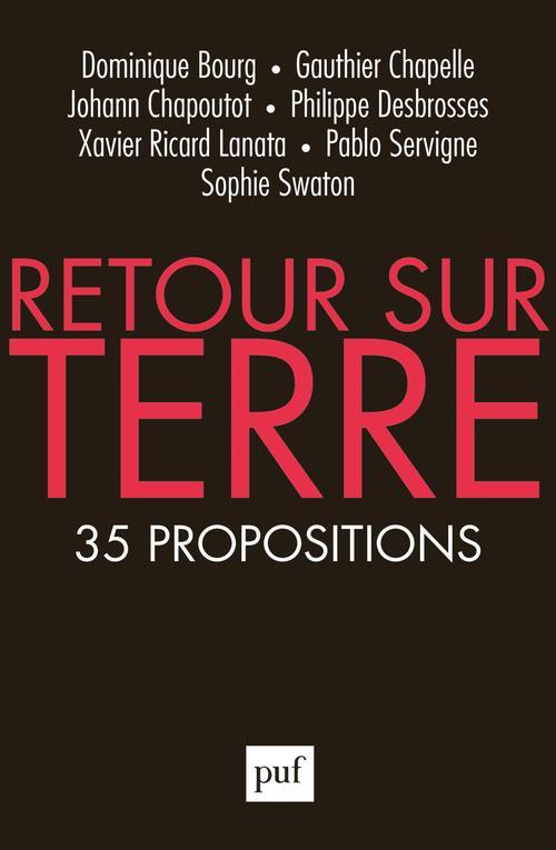 RETOUR SUR TERRE  -  35 PROPOSITIONS