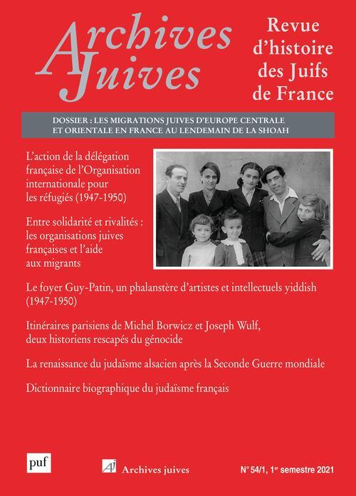 REVUE ARCHIVES JUIVES N.54 (EDITION 2021)
