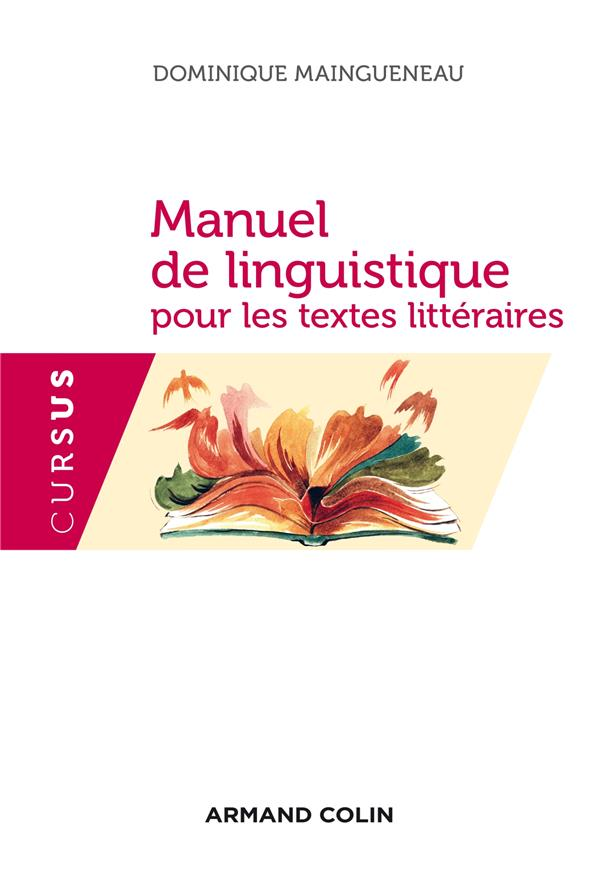MANUEL DE LINGUISTIQUE POUR LES TEXTES LITTERAIRES
