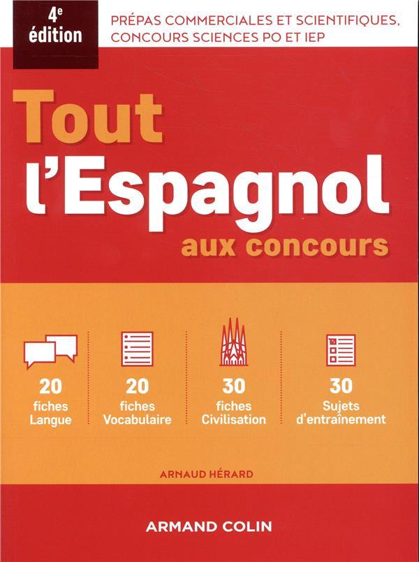 TOUT L'ESPAGNOL AU CONCOURS (4E EDITION)