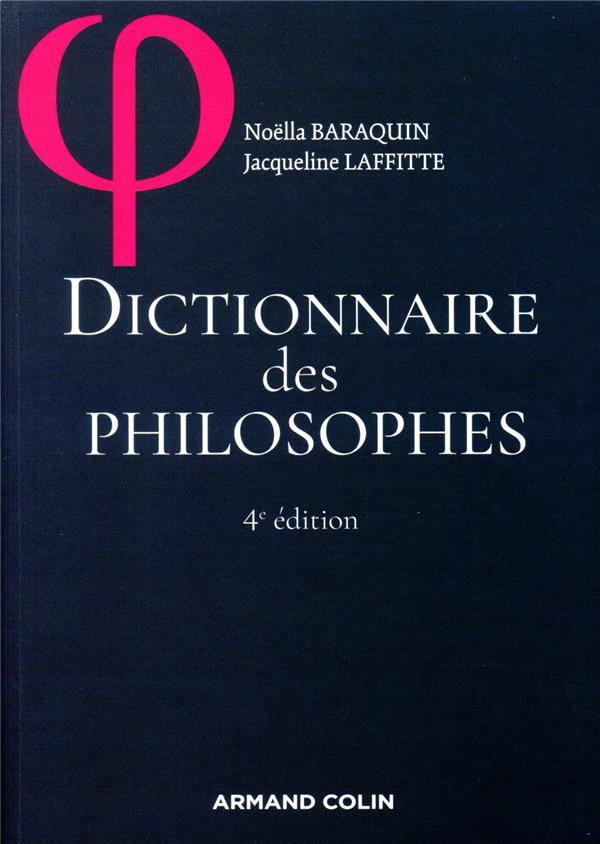 DICTIONNAIRE DES PHILOSOPHES (4E EDITION)