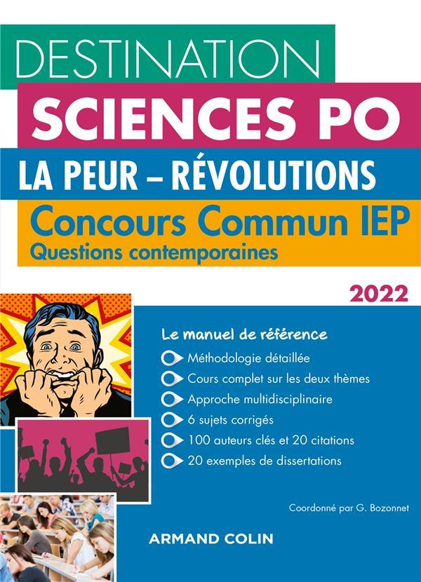 QUESTIONS CONTEMPORAINES  -  CONCOURS COMMUN IEP (EDITION 2022) BOZONNET/BERNARD NATHAN