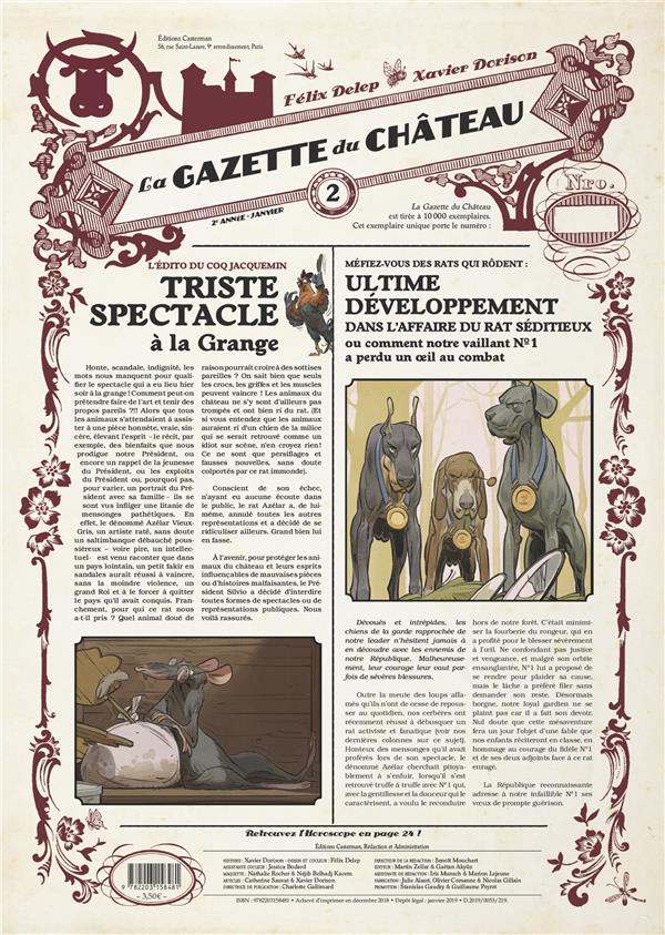 LE CHATEAU DES ANIMAUX  -  LA GAZETTE DES ANIMAUX N.23