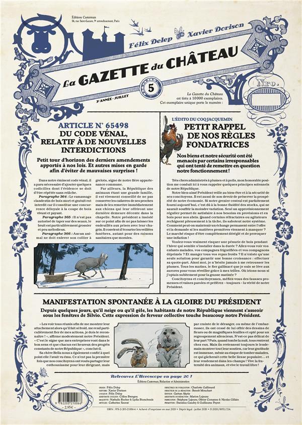 LE CHATEAU DES ANIMAUX  -  LA GAZETTE DU CHATEAU N.5