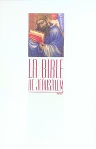 BIBLE JERUSALEM POCHE BROCHEE COLLECTIF CERF