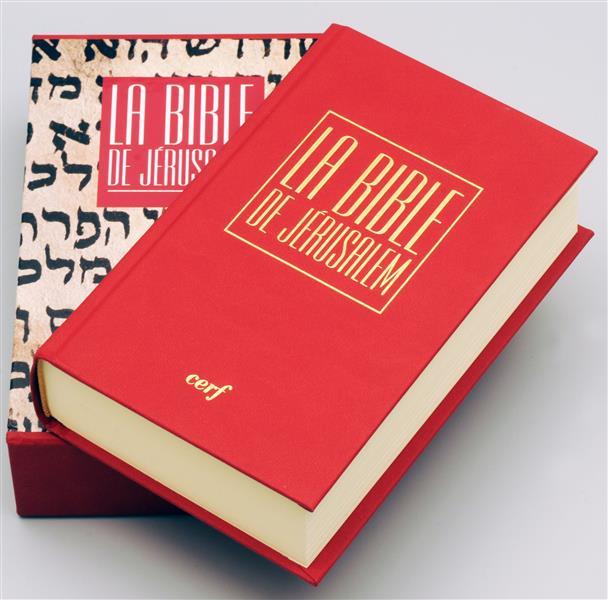 LA BIBLE DE JERUSALEM  -  POCHE RELIEE ROUGE  Cerf