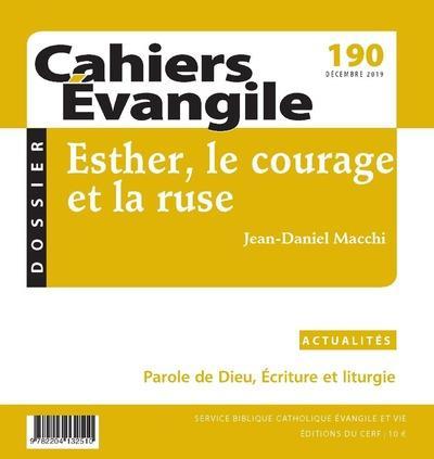CAHIERS DE L'EVANGILE N.190  -  ESTHER, LE COURAGE ET LA RUSE