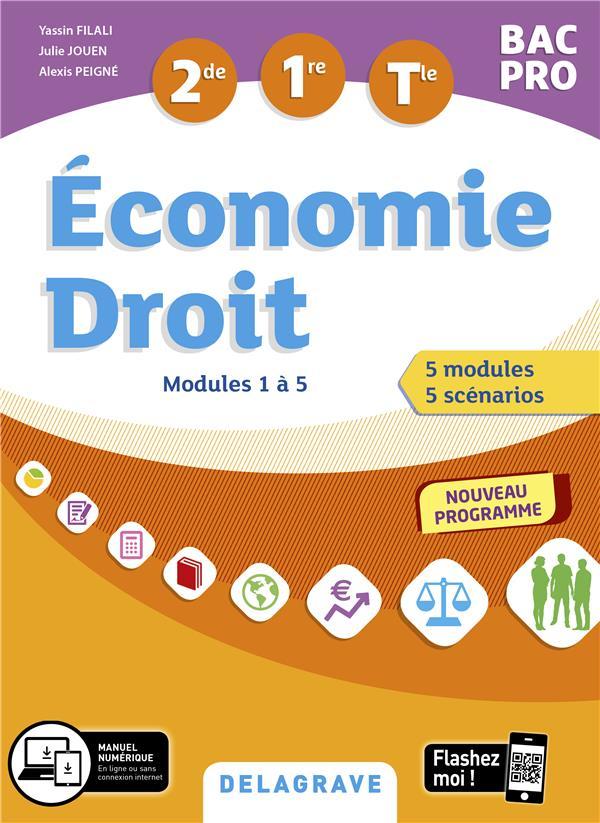 ECONOMIE-DROIT 2DE, 1RE, TLE BAC PRO (2020) - POCHETTE ELEVE COLLECTIF DELAGRAVE
