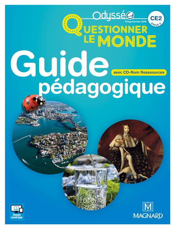 ODYSSEO QUESTIONNER LE MONDE CE2 (2017) - BANQUE DE RESSOURCES SUR CD-ROM AVEC GUIDE PEDAGOGIQUE PAP