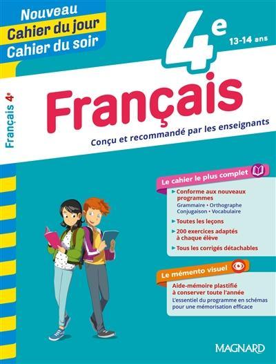 CAHIERS DU JOUR SOIR     FRANCAIS     4E