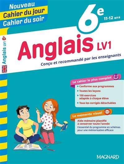CAHIERS DU JOUR SOIR     ANGLAIS     6E     LV1