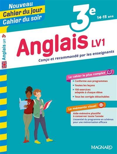 CAHIERS DU JOUR SOIR     ANGLAIS     3E     LV1