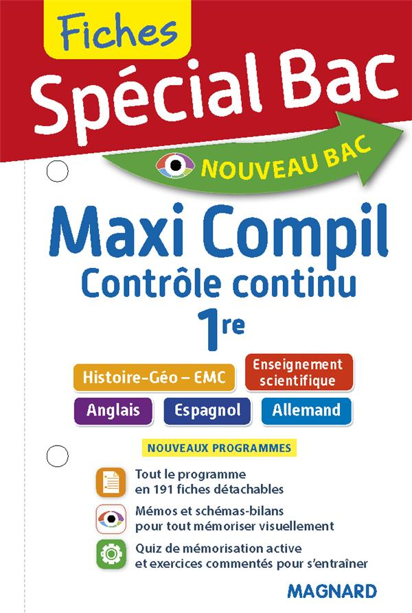 SPECIAL BAC - MAXI COMPIL DE FICHES - CONTROLE CONTINU 1RE