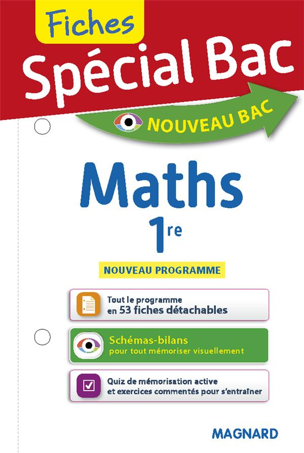 SPECIAL BAC - FICHES MATHS 1RE