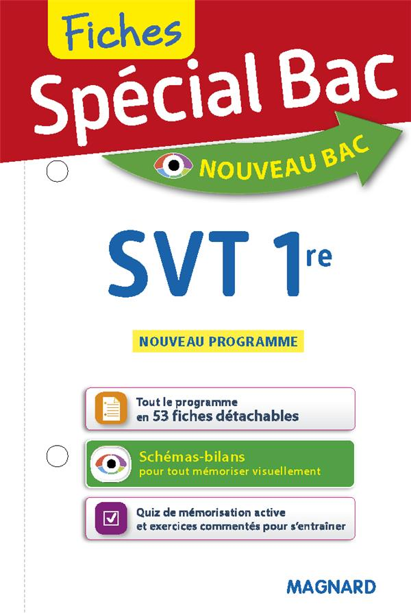 SPECIAL BAC - FICHES SVT 1RE