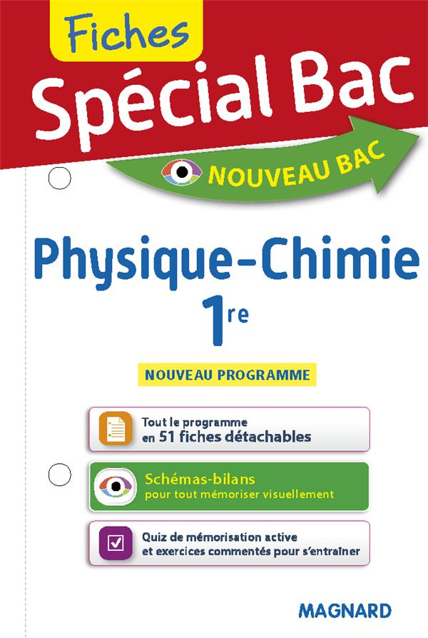 SPECIAL BAC - FICHES PHYSIQUECHIMIE 1RE