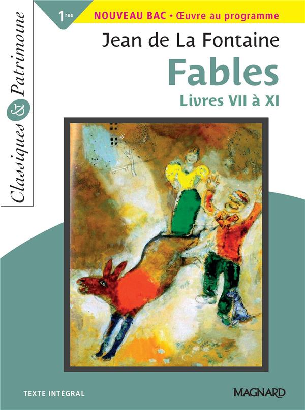 FABLES LIVRES VII A XI