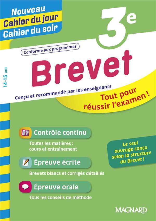 CAHIER DU JOUR  CAHIER DU SOIR   -  BREVET 3E