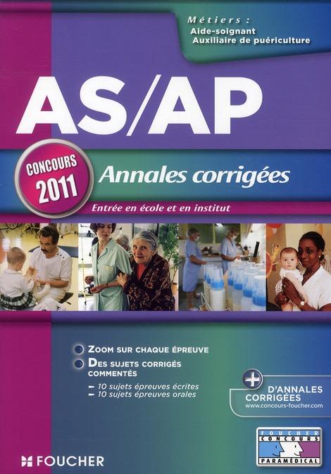 ASAP ANNALES CORRIGEES CONCOURS 2011 BONJEAN-V FOUCHER
