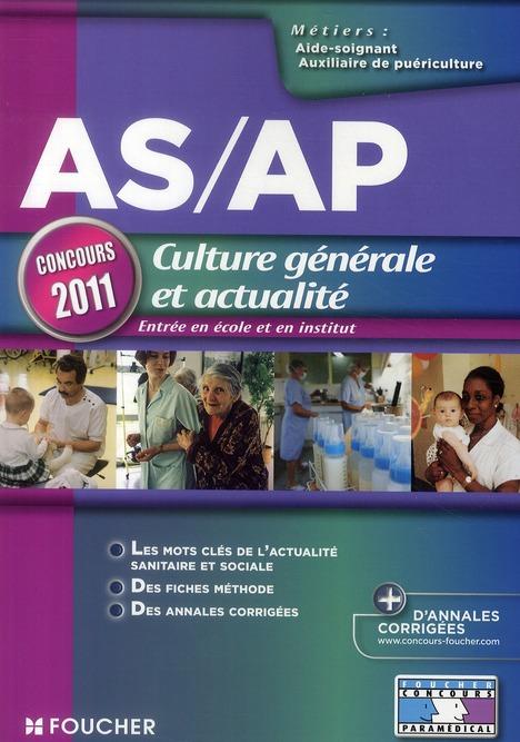 ASAP CULTURE GENERALE ET ACTUALITE CONCOURS 2011 BEAL-V FOUCHER