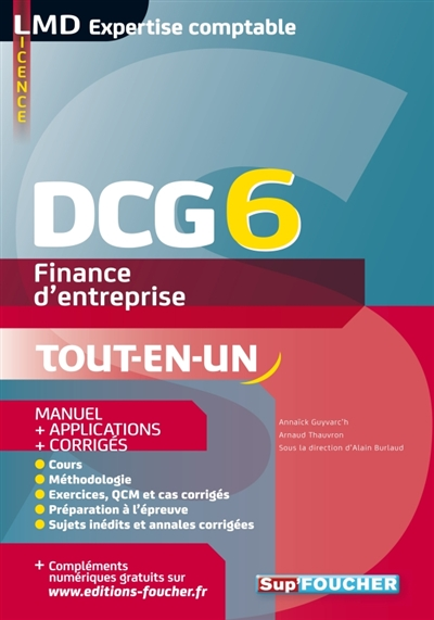 DCG 6   FINANCE D'ENTREPRISE   MANUEL ET APPLICATIONS