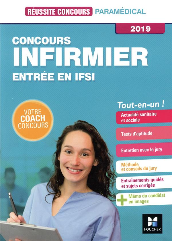 74 - REUSSITE CONCOURS - IFSI - CONCOURS D'ENTREE 2019 - PREPARATION COMPLETE PILLARD JACKIE FOUCHER