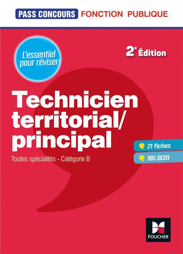 PASS'CONCOURS  -  TECHNICIEN TERRITORIALPRINCIPAL  -  TOUTES SPECIALITES  -  CATEGORIE B (2E EDITION) BERVILLE, DOMINIQUE FOUCHER