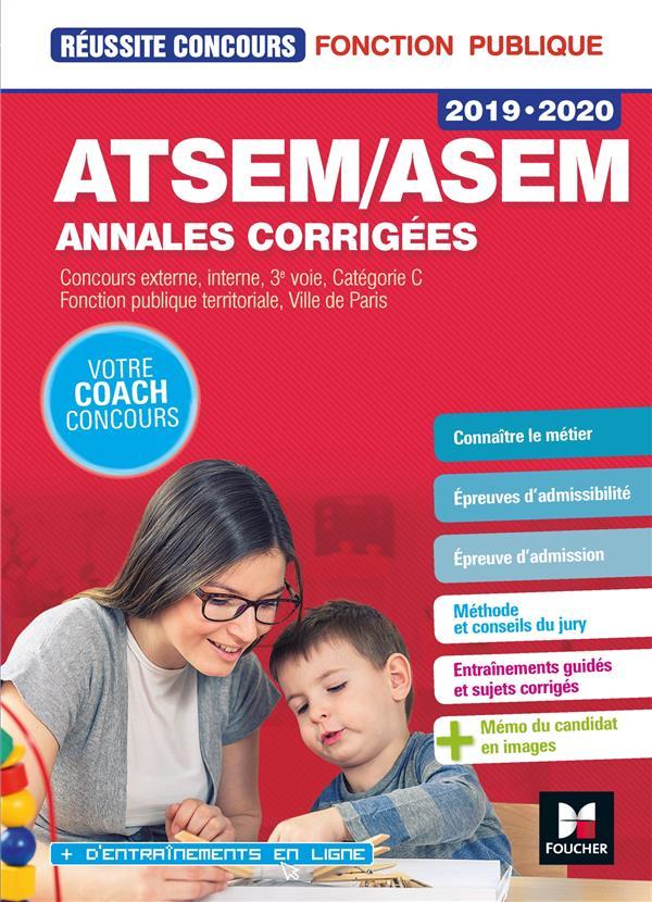 REUSSITE CONCOURS ATSEMASEM SUJETS INEDITS & ANNALES CORRIGEES - 2019-2020 - ENTRAINEMENT  FOUCHER