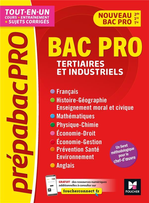 PREPABACPRO - BAC PRO TERTIAIRES ET INDUSTRIELS - MATIERES GENERALES - REVISION ET ENTRAINEMENT
