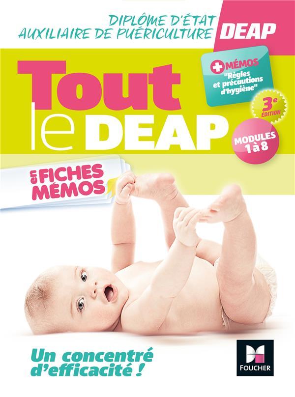DIPLOME D'ETAT AUXILIAIRE DE PUERICULTURE  -  TOUT LE DEAP EN FICHES MEMOS (3E EDITION)