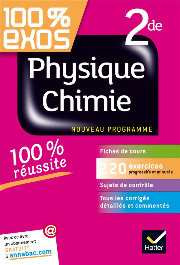 100% EXOS  -  PHYSIQUE-CHIMIE  -  2NDE BENGUIGUI NATHALIE Hatier
