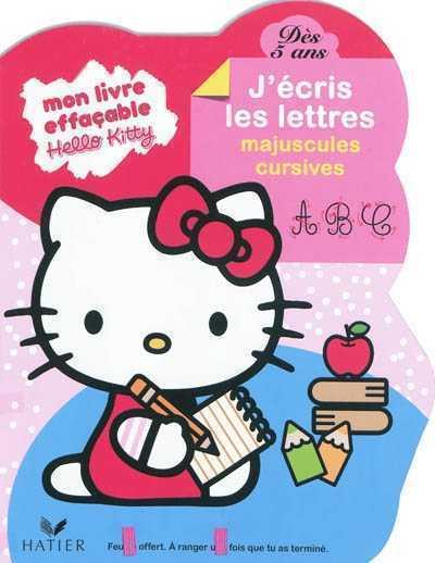 HELLO KITTY - J'ECRIS LES LETTRES MAJUSCULES CURSIVES DES 5 ANS - LIVRE ARDOISE XXX HATIER JEUNESSE