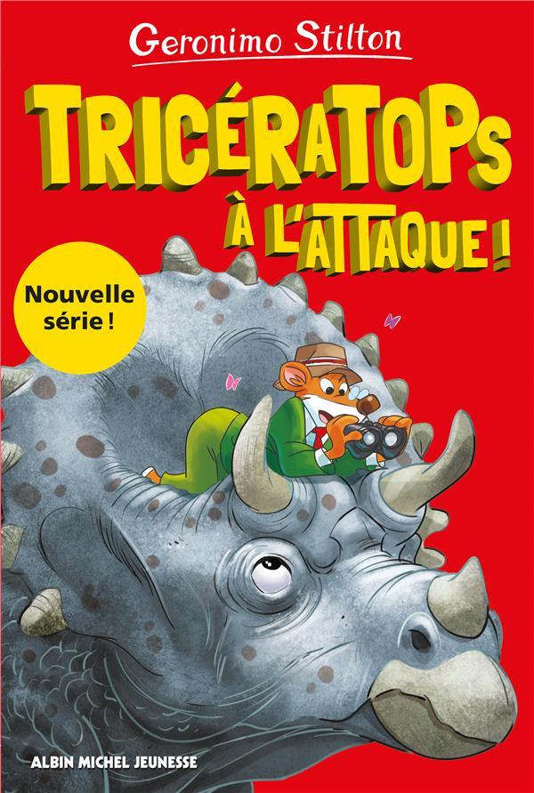 SUR L'ILE DES DERNIERS DINOSAURES T.2  -  TRICERATOPS A L'ATTAQUE !