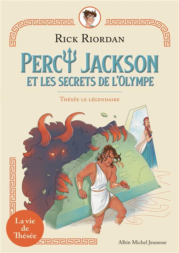 PERCY JACKSON ET LES SECRETS DE L'OLYMPE T.3  -  THESEE LE LEGENDAIRE  VIRGINIE, MORU ALBIN MICHEL