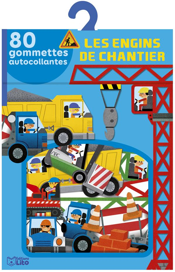 LES ENGINS DE CHANTIER  -  80 GOMMETTES AUTOCOLLANTES XXX NC