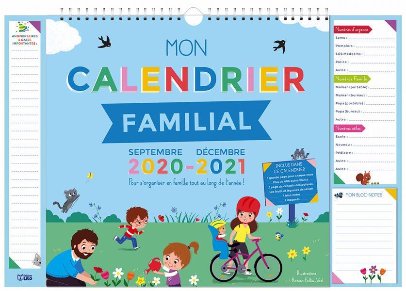MON CALENDRIER FAMILIAL 2020-2021 XXX LITO