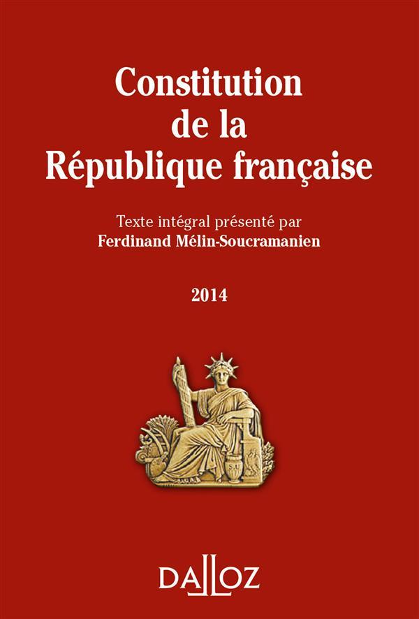 CONSTITUTION DE LA REPUBLIQUE