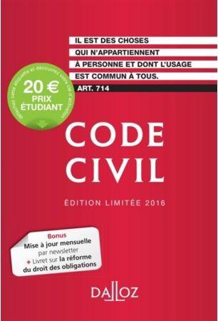 CODE CIVIL 2016. EDITION LIMITEE - 115E ED.