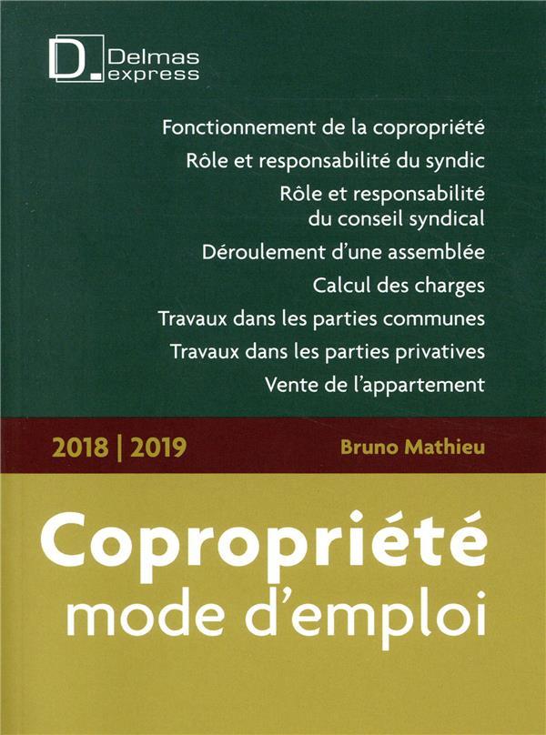 COPROPRIETE, MODE D'EMPLOI (EDITION 20182019)