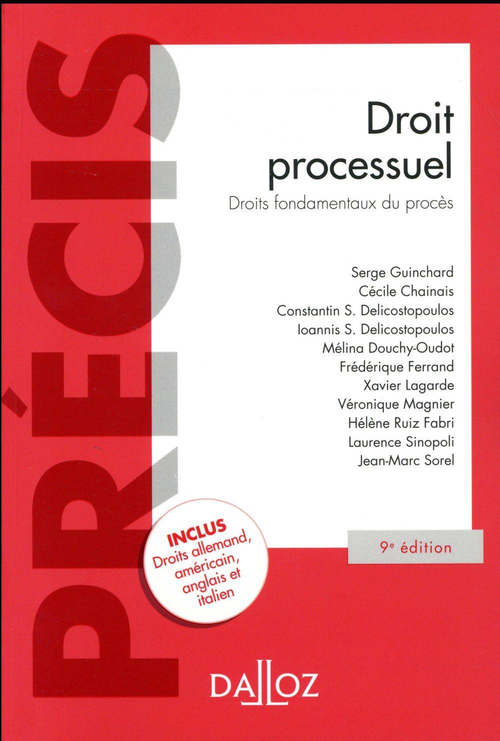 DROIT PROCESSUEL. DROITS FONDAMENTAUX DU PROCES   9E ED.