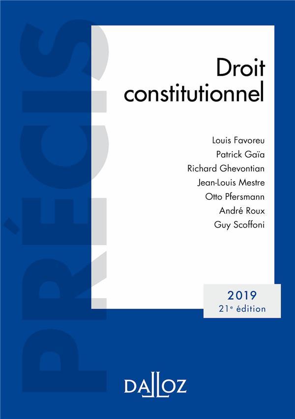 DROIT CONSTITUTIONNEL 2019   EDITION 2019