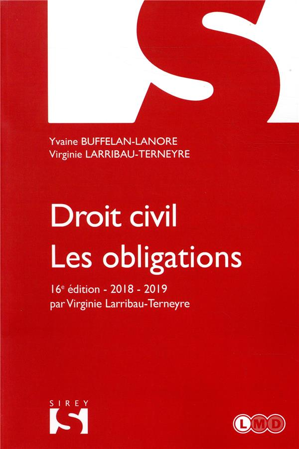 DROIT CIVIL. LES OBLIGATIONS - 16E ED. BUFFELAN-LANORE-Y DALLOZ