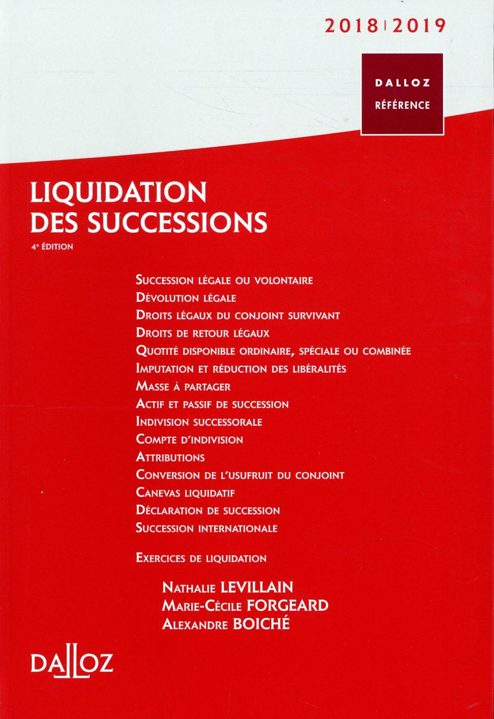 LIQUIDATION DES SUCCESSIONS 201819 - 4E ED.