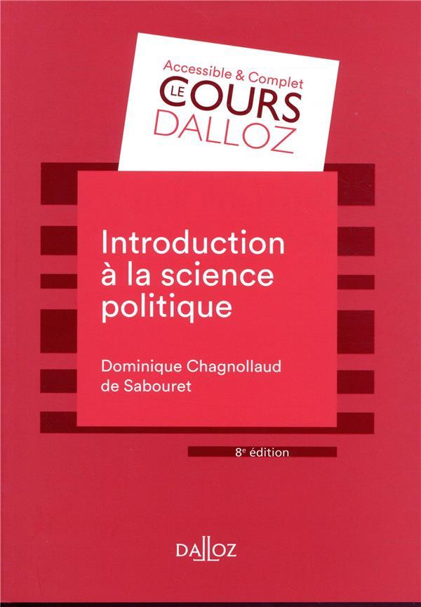 INTRODUCTION A LA SCIENCE POLITIQUE - 8E ED. DOMINIQUE DALLOZ