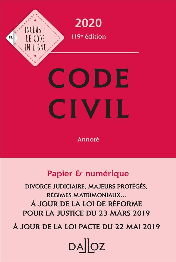 XXX - CODE CIVIL (EDITION 2020)