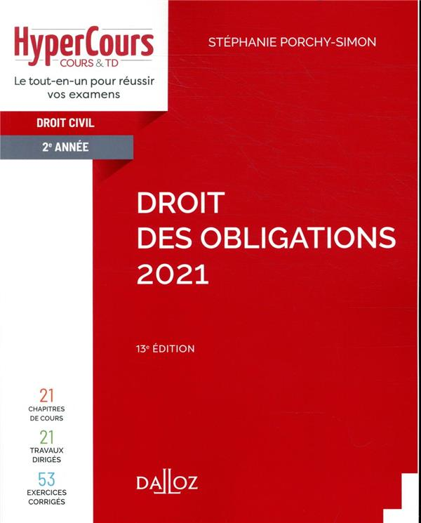 DROIT DES OBLIGATIONS (EDITION 2021)