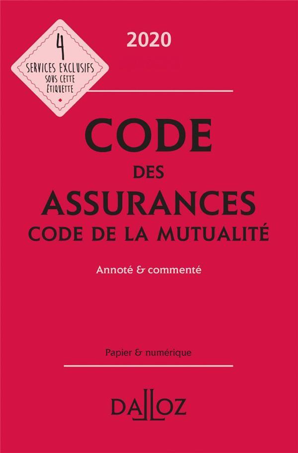 CODE DES ASSURANCES, CODE DE LA MUTUALITE, ANNOTE ET COMMENTE (EDITION 20202021) PERDRIX, LOUIS DALLOZ