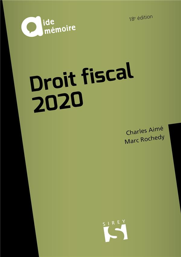 DROIT FISCAL (EDITION 2020) XXX DALLOZ