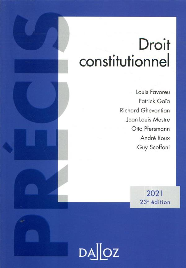 DROIT CONSTITUTIONNEL (EDITION 2021)
