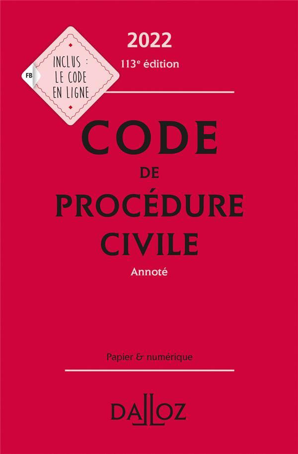 CODE DE PROCEDURE CIVILE 2022, ANNOTE - 113